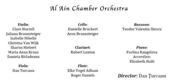 The Members of the Al Ain Chamber Orchestra