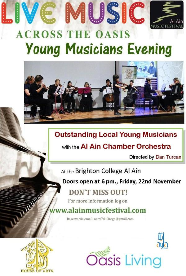 The Young Musicians Evening flyer