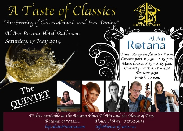 An Evening of Classical Music and Fine Dining - A Taste of the Classics
