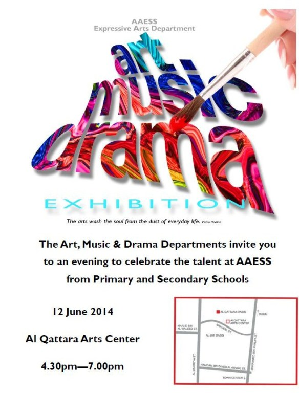 art - music - drama - AAESS Expressive Arts Exhibition on 12th June