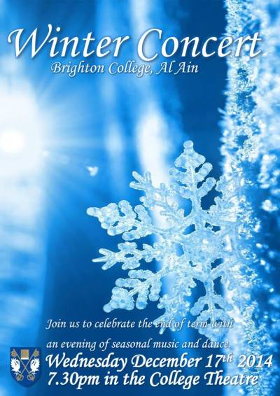 Brighton College Winter Concert flyer