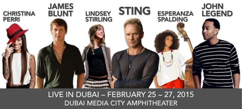 Dubai Jazz Fest 2015 collage