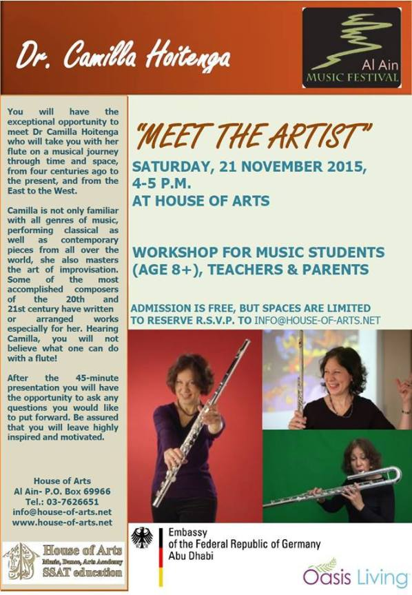 Camilla Hoitenga Workshop flyer