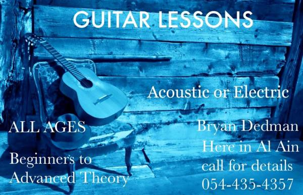 Bryan Dedman Guitar Lessons flyer