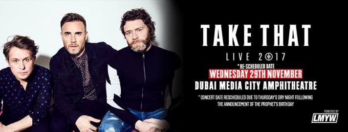 Take That 29 Nov