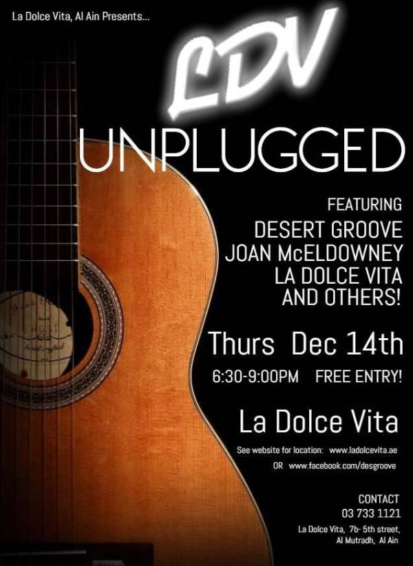 LDV Unplugged concert flyer