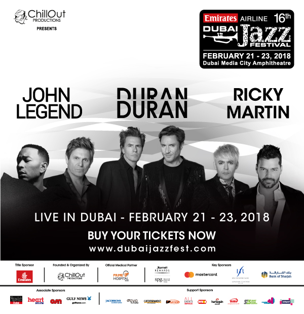 Dubai Jazz Festival flyer