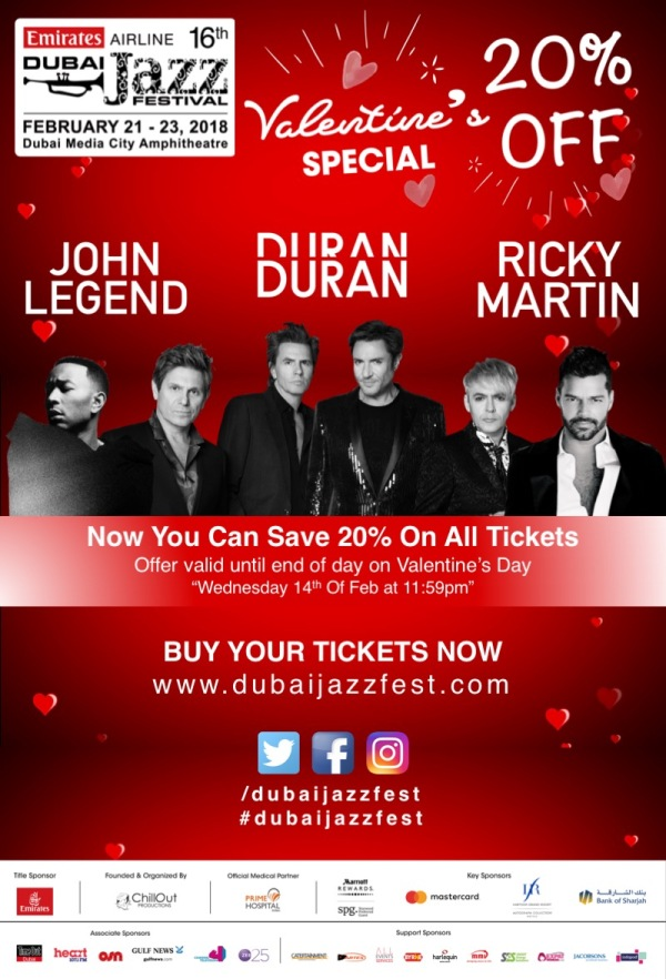 Dubai Jazzfest special offer
