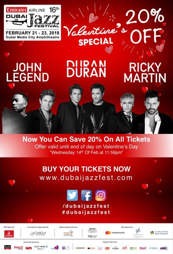 Dubai Jazzfest special offer