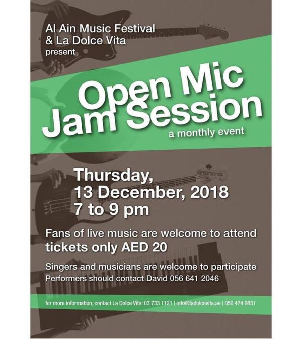 Dec 2018 Open Mic Jam Session