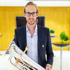 Mark Glover with euphonium