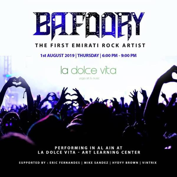Bafoory Emirati rock artist