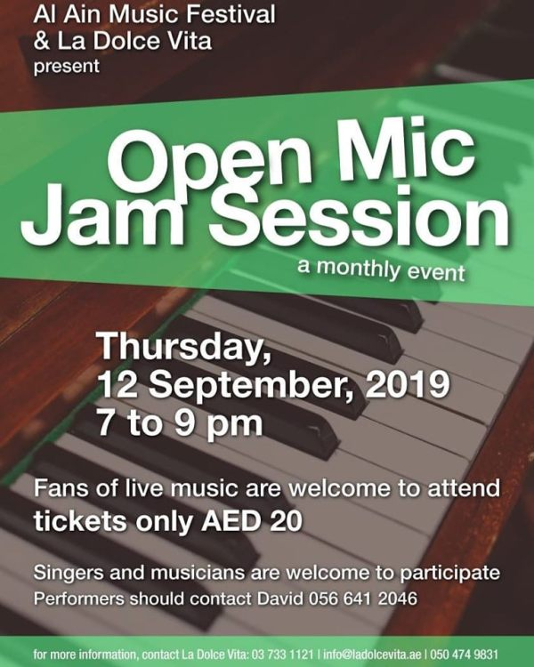 Open Mic Jam Session Sept 2019